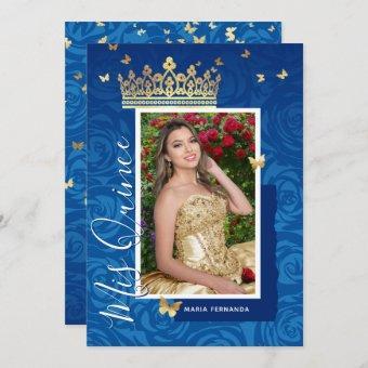 Modern Royal Blue Gold Elegant Photo