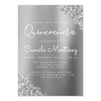Modern Silver Glitter Party