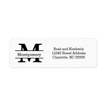 Monogram - Return Address Labels