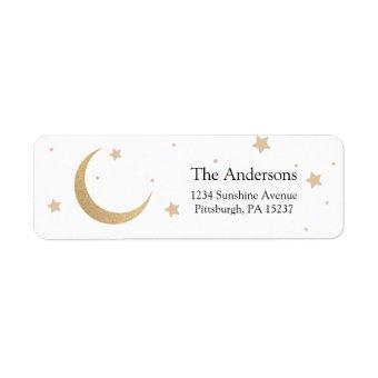 Moon and Stars Return Address Label