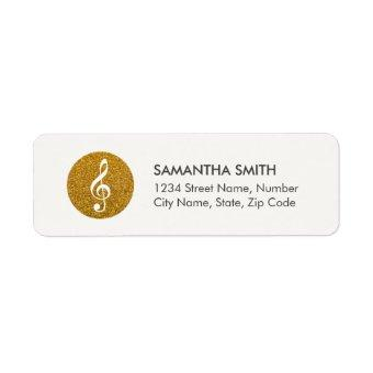 Music Sparkling Logo Address Label