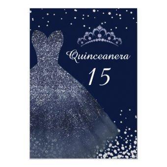 Navy Blue Sparkle Gown Dress Party