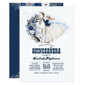 Navy Blue Western Quinceañera - 15th Birthday