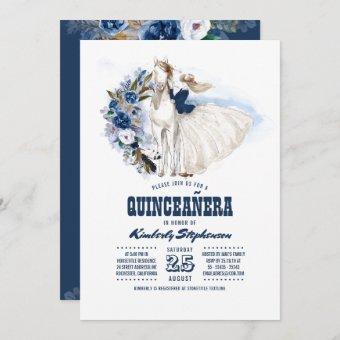 Navy Blue Western Quinceañera - 15th Birthday