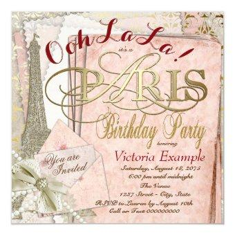 Ooh La La Vintage Paris Birthday Party