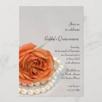 Orange Rose and Pearl Party