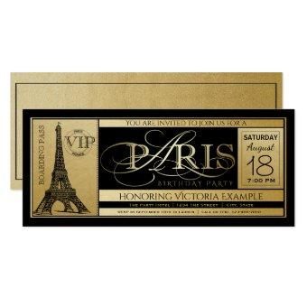 Paris Birthday Party Ticket