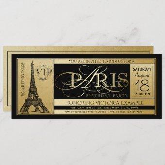 Paris Birthday Party Ticket