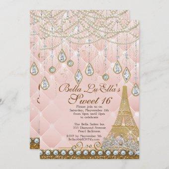 Paris Diamond and Pearls Birthday Party