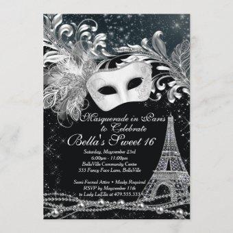 Paris Masquerade Birthday Event Party