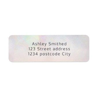Pearl nacre typography blush pink return label