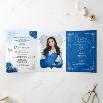 Photo Spanish Silver Royal Blue Tri-Fold