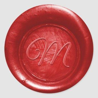 Pick Any Color Wax Seal Monogram Envelope Stickers