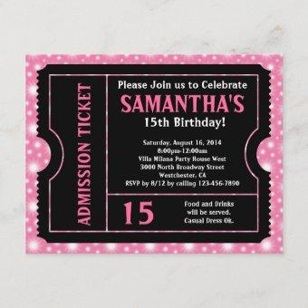 Pink and Black Ticket , Any Age