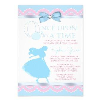 Pink and Blue Cinderella Birthday Party