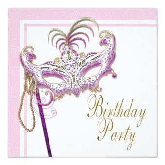 Pink and Gold Pearl Masquerade Party