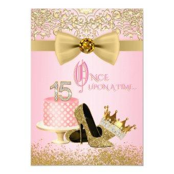 Pink and Gold Princess 15th Birthday