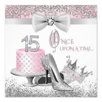 Pink and Silver Princess 15th Birthday