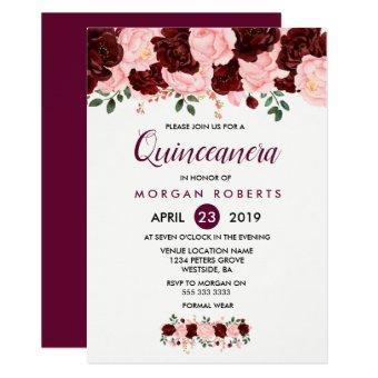 Pink & Burgundy Floral