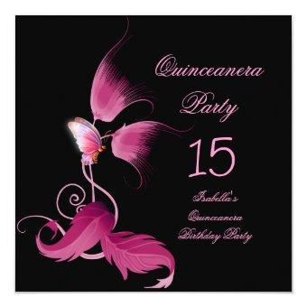 Pink Butterfly 15 Birthday Party