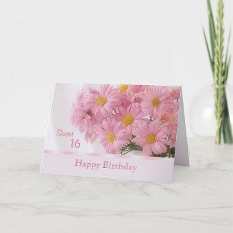 Pink daisy Sweet 16 Birthday