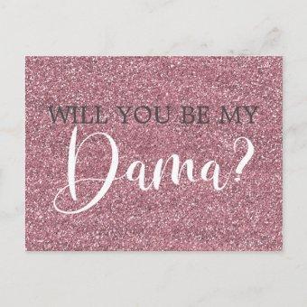 Pink Faux Glitter Dama Proposal Post