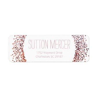 Pink Glitter Circle Label