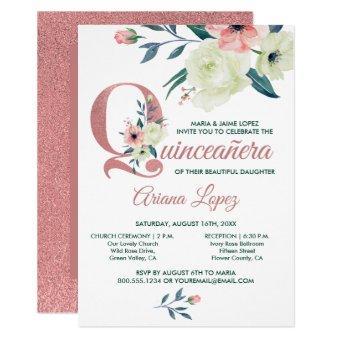 Pink Glitter Flower Letter & Mass