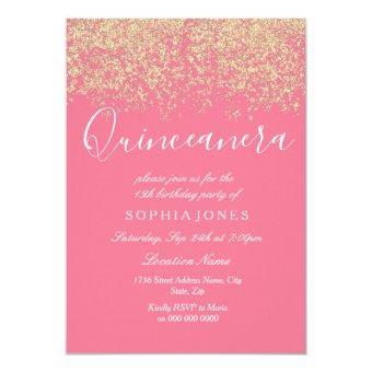 Pink Gold Glitter Confetti