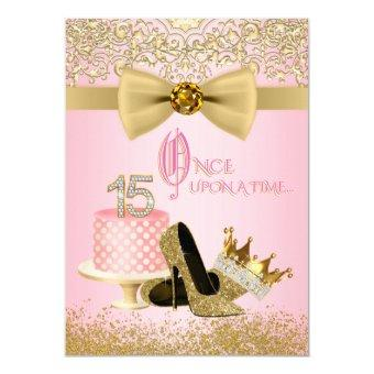 Pink Gold Princess 15th Birthday