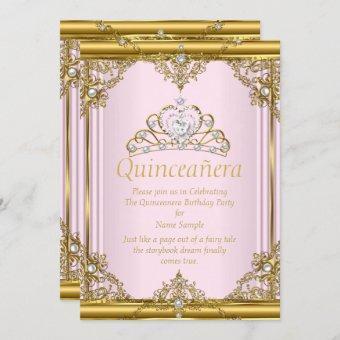 Pink Gold White Pearl Princess Blush
