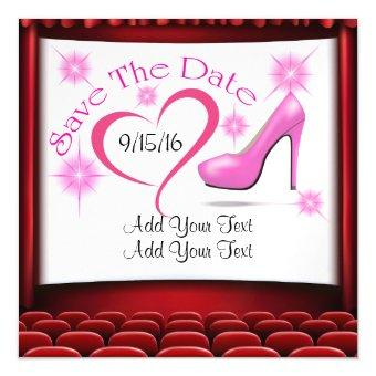 Pink High Heel Save the Date Magnet
