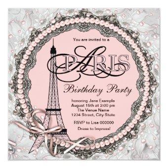 Pink Pearls Pink Paris Sweet 16 Birthday Party