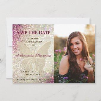 Pink Photo Save The Date