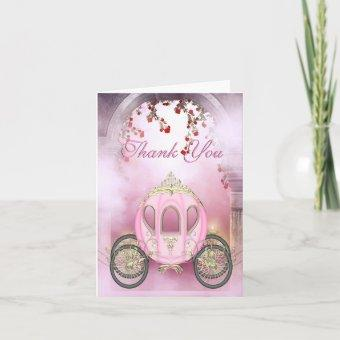 Pink Princess Carriage Enchanted Thank You