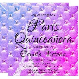 Pink Purple Paris Quinceañera Celebration
