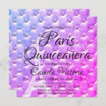 Pink Purple Paris Quinceañera Celebration