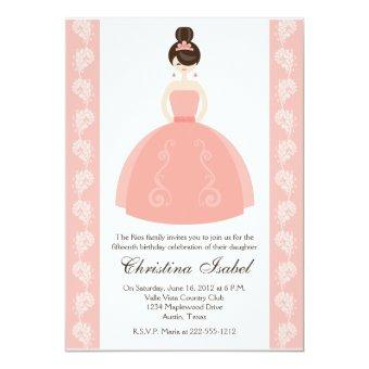 Pink Quince Dress Brunette