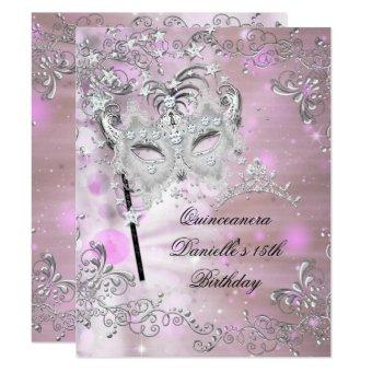 Pink 15th Birthday Tiara Masquerade