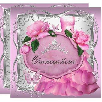 Pink 15th Party Rose Tiara