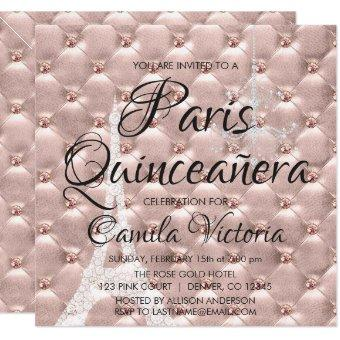 Pink Rose Gold Paris Quinceañera Celebration