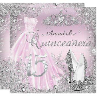 Pink Silver Sparkle Dress & Tiara