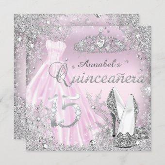 Pink Silver Sparkle Dress & Tiara