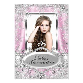 Pink Silver Sparkle Jewel Snowflake