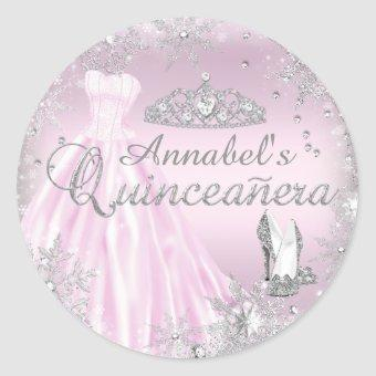 Pink Sparkle Dress Tiara Sticker