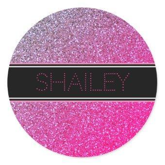 Pink Sparkles Sticker or Envelope Seal
