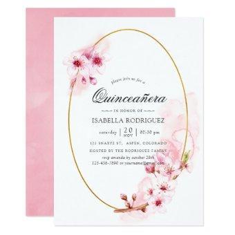 Pink Spring Cherry Blossom Quinceañera
