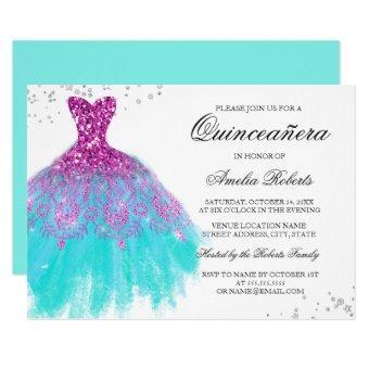 Pink Teal Sparkle Dress