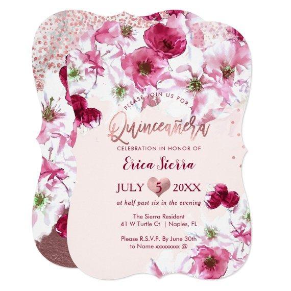 PixDezines Quinceañera/Dark Cherry Blossoms
