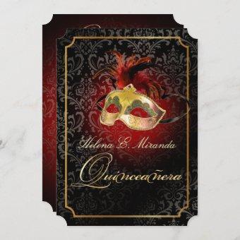 PixDezines Rossi Damask/Masquerade/DIY/Ruby